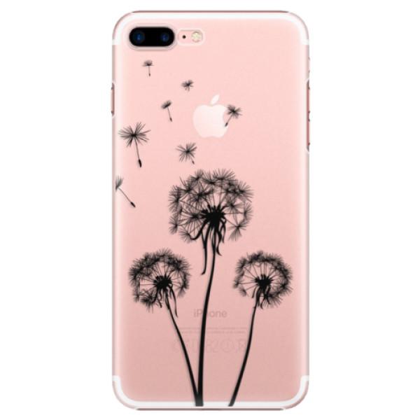 Plastové puzdro iSaprio - Three Dandelions - black - iPhone 7 Plus