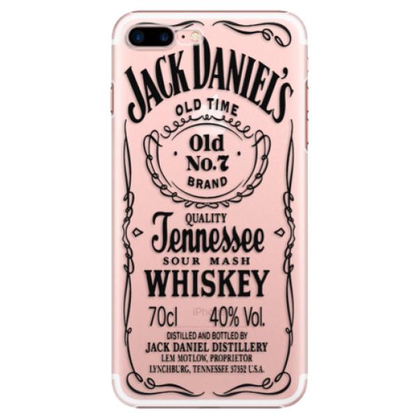 Plastové puzdro iSaprio - Transparent Black Jack - iPhone 7 Plus