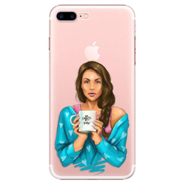 Plastové puzdro iSaprio - Coffe Now - Brunette - iPhone 7 Plus