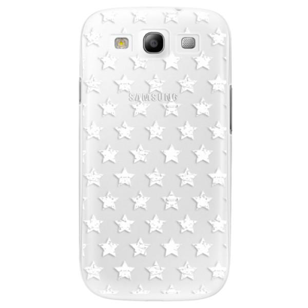 Plastové puzdro iSaprio - Stars Pattern - white - Samsung Galaxy S3