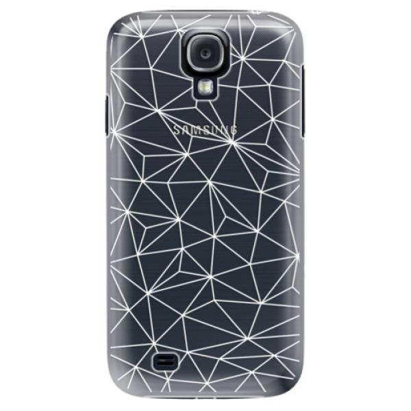 Plastové puzdro iSaprio - Abstract Triangles 03 - white - Samsung Galaxy S4