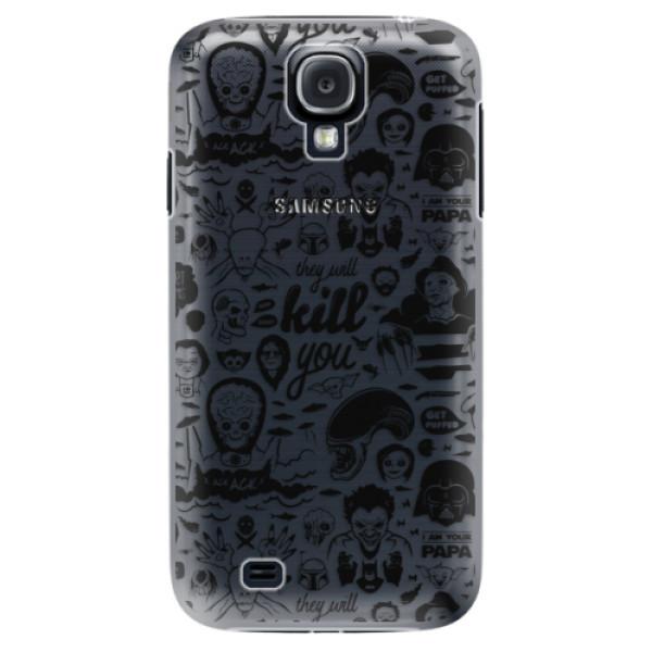 Plastové puzdro iSaprio - Comics 01 - black - Samsung Galaxy S4