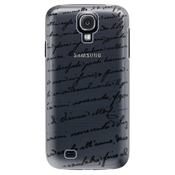 Plastové puzdro iSaprio - Handwriting 01 - black - Samsung Galaxy S4