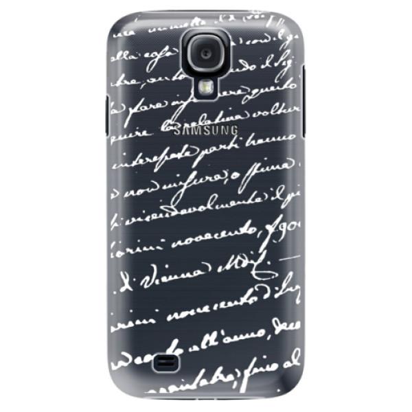 Plastové puzdro iSaprio - Handwriting 01 - white - Samsung Galaxy S4
