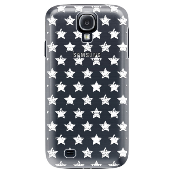 Plastové puzdro iSaprio - Stars Pattern - white - Samsung Galaxy S4