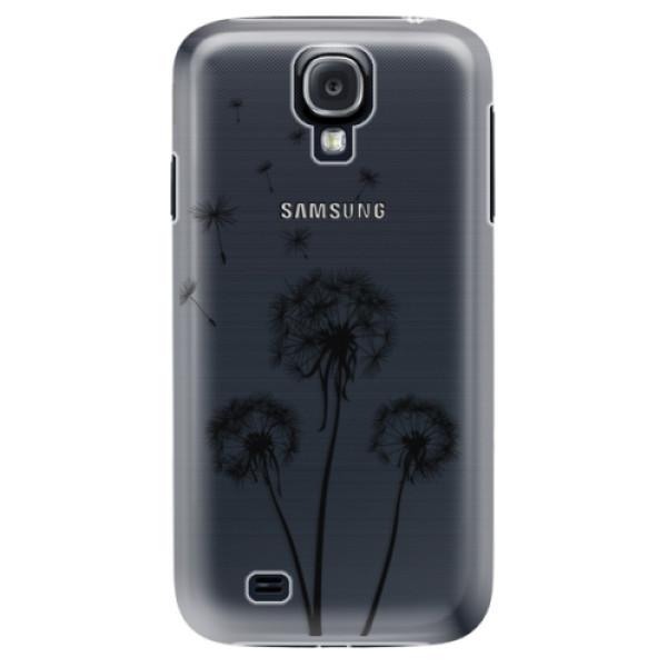 Plastové puzdro iSaprio - Three Dandelions - black - Samsung Galaxy S4