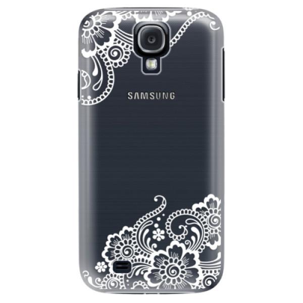 Plastové puzdro iSaprio - White Lace 02 - Samsung Galaxy S4