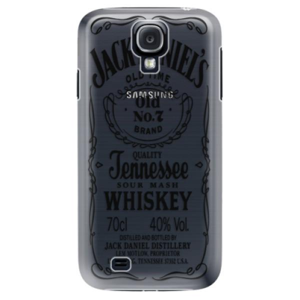 Plastové puzdro iSaprio - Transparent Black Jack - Samsung Galaxy S4