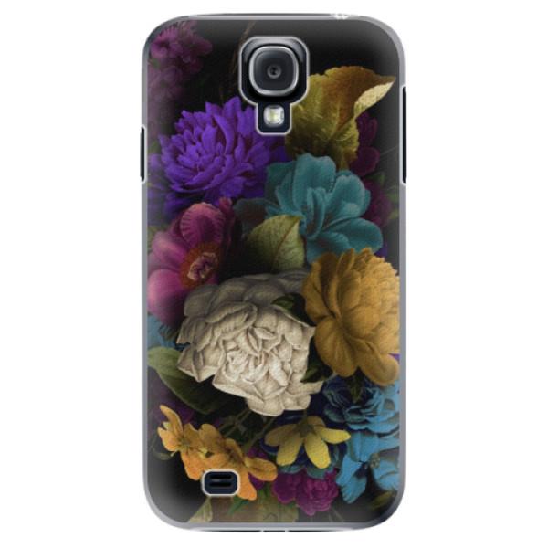 Plastové puzdro iSaprio - Dark Flowers - Samsung Galaxy S4