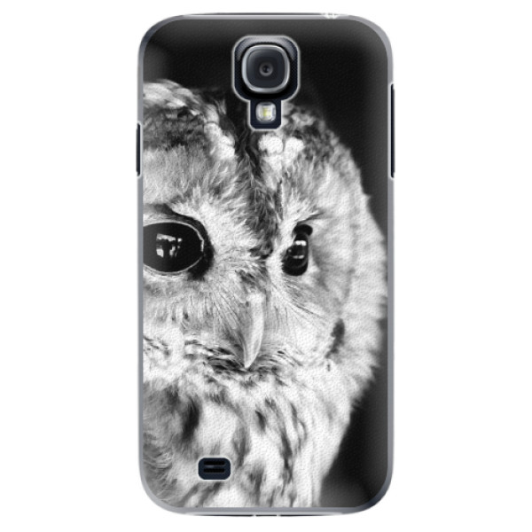 Plastové puzdro iSaprio - BW Owl - Samsung Galaxy S4