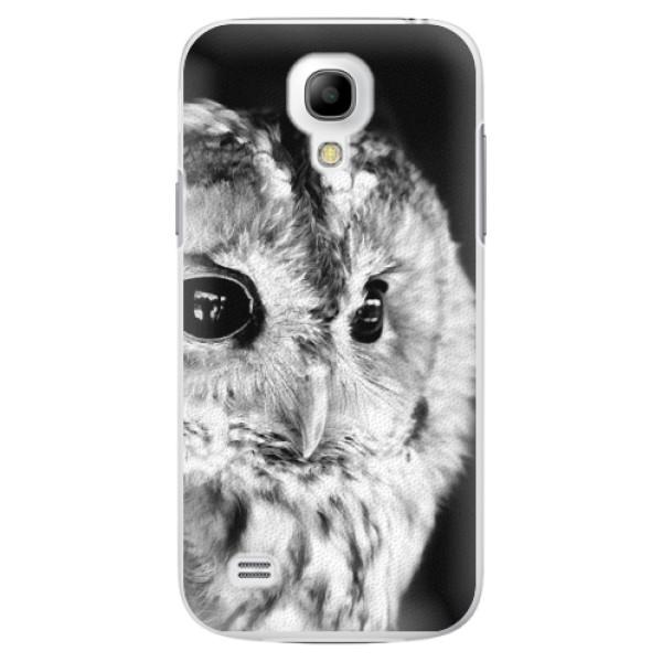 Plastové puzdro iSaprio - BW Owl - Samsung Galaxy S4 Mini