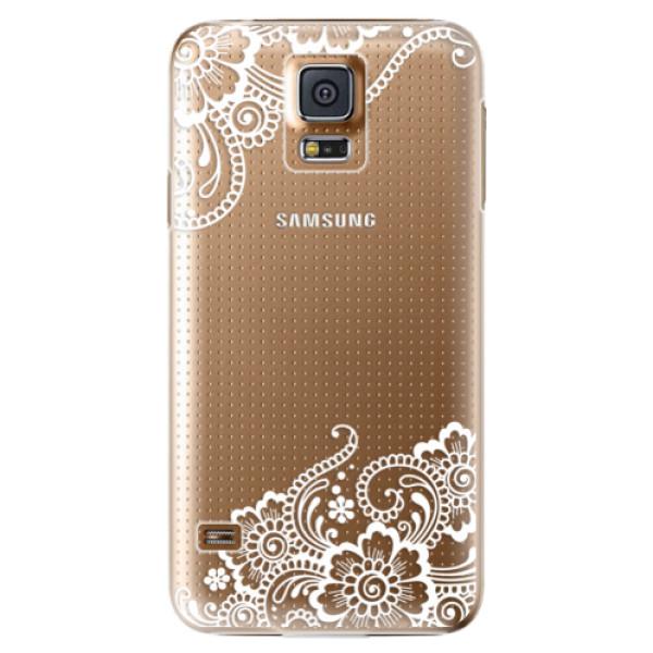 Plastové puzdro iSaprio - White Lace 02 - Samsung Galaxy S5