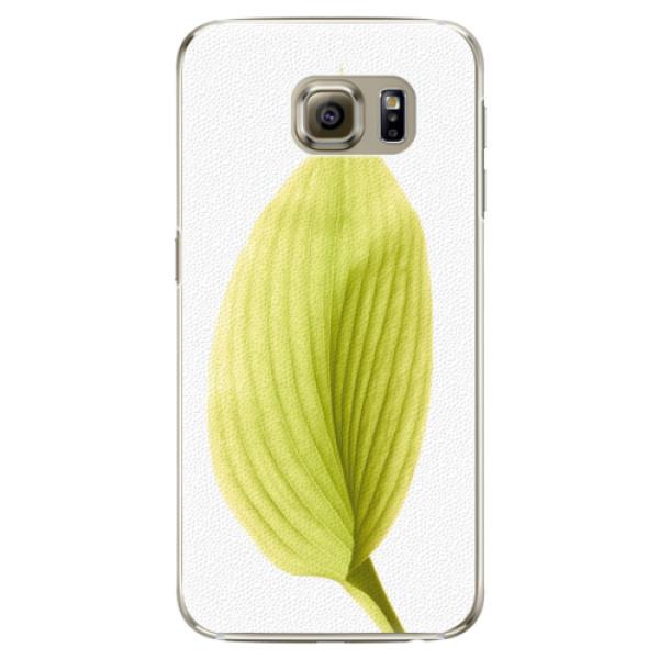 Plastové puzdro iSaprio - Green Leaf - Samsung Galaxy S6