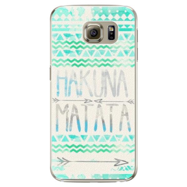 Plastové puzdro iSaprio - Hakuna Matata Green - Samsung Galaxy S6
