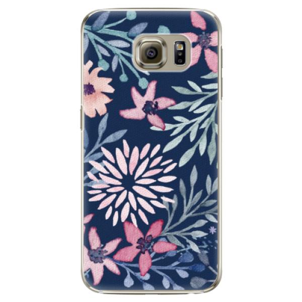 Plastové puzdro iSaprio - Leaves on Blue - Samsung Galaxy S6