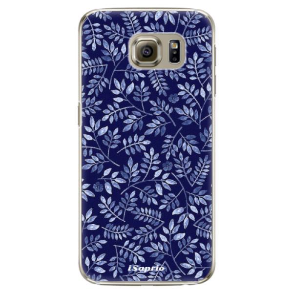 Plastové puzdro iSaprio - Blue Leaves 05 - Samsung Galaxy S6 Edge