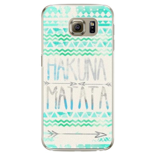 Plastové puzdro iSaprio - Hakuna Matata Green - Samsung Galaxy S6 Edge