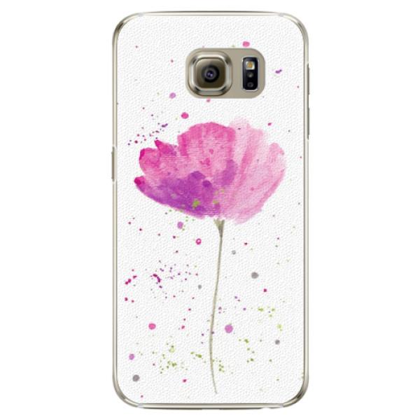 Plastové puzdro iSaprio - Poppies - Samsung Galaxy S6 Edge