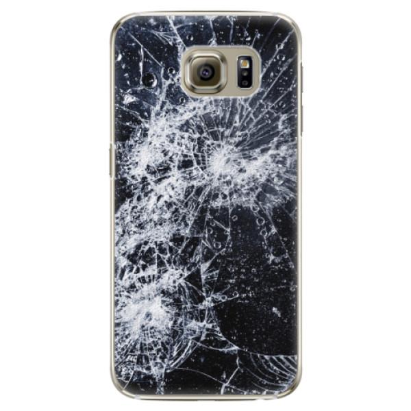 Plastové puzdro iSaprio - Cracked - Samsung Galaxy S6 Edge