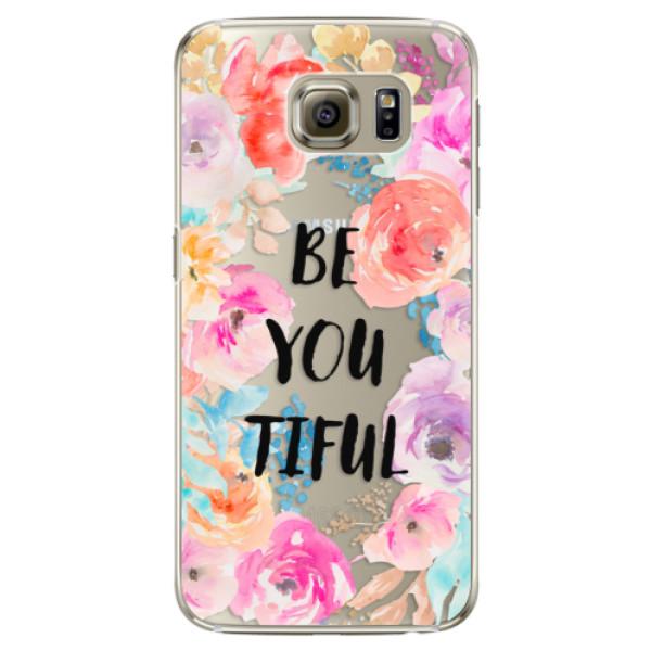 Plastové puzdro iSaprio - BeYouTiful - Samsung Galaxy S6 Edge