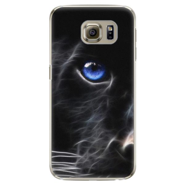 Plastové puzdro iSaprio - Black Puma - Samsung Galaxy S6 Edge