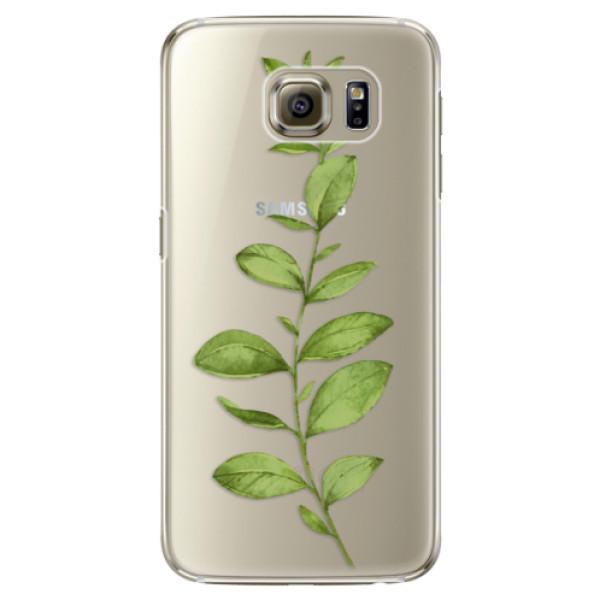 Plastové puzdro iSaprio - Green Plant 01 - Samsung Galaxy S6 Edge