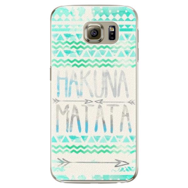 Plastové puzdro iSaprio - Hakuna Matata Green - Samsung Galaxy S6 Edge Plus