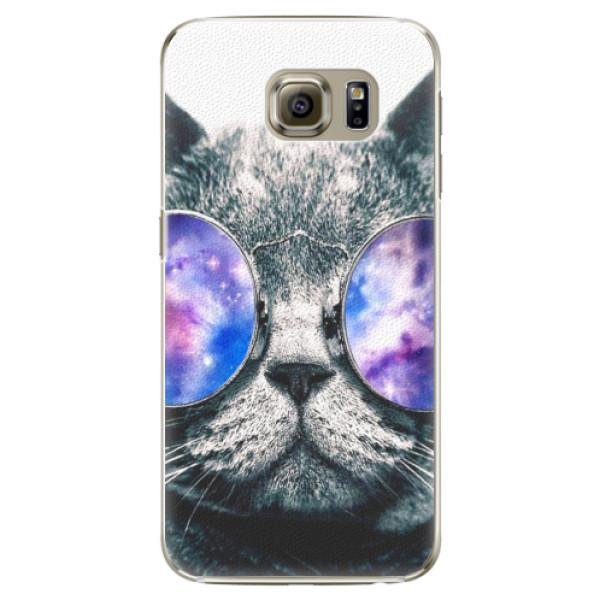 Plastové puzdro iSaprio - Galaxy Cat - Samsung Galaxy S6 Edge Plus