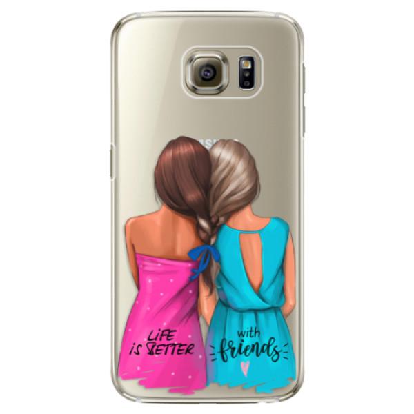 Plastové puzdro iSaprio - Best Friends - Samsung Galaxy S6 Edge Plus