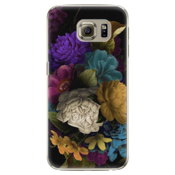 Plastové puzdro iSaprio - Dark Flowers - Samsung Galaxy S6 Edge Plus