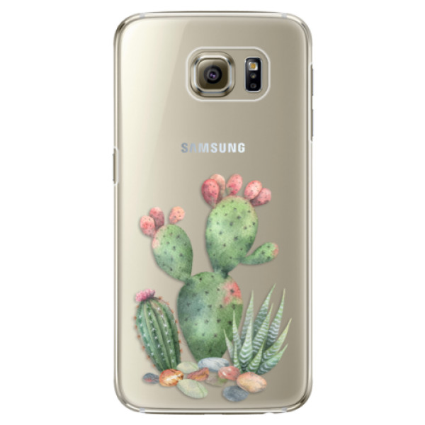 Plastové puzdro iSaprio - Cacti 01 - Samsung Galaxy S6 Edge Plus
