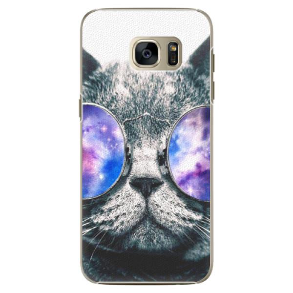 Plastové puzdro iSaprio - Galaxy Cat - Samsung Galaxy S7 Edge