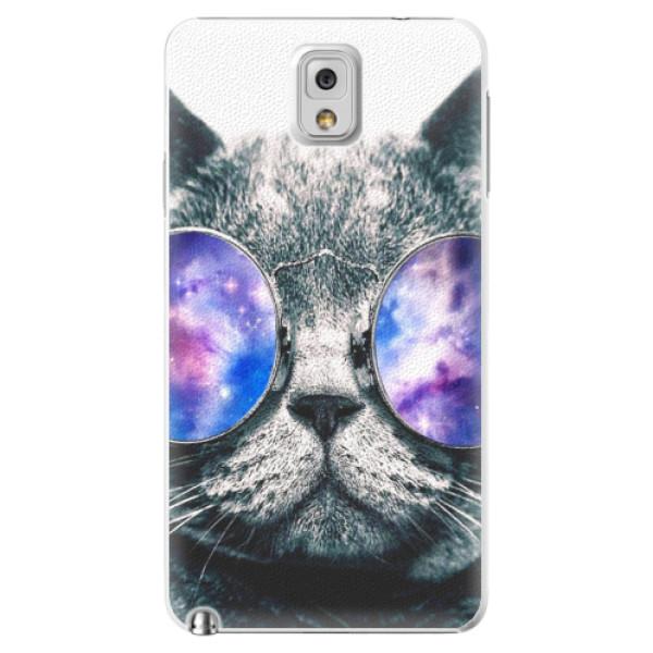 Plastové puzdro iSaprio - Galaxy Cat - Samsung Galaxy Note 3
