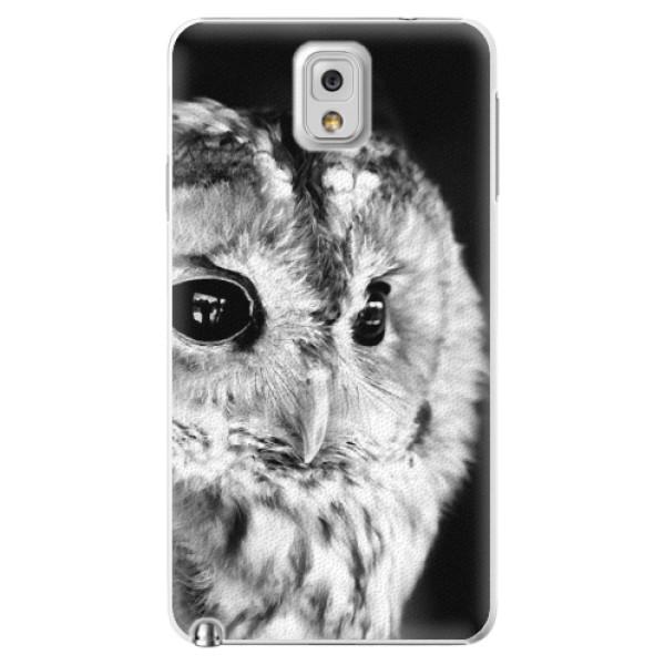 Plastové puzdro iSaprio - BW Owl - Samsung Galaxy Note 3
