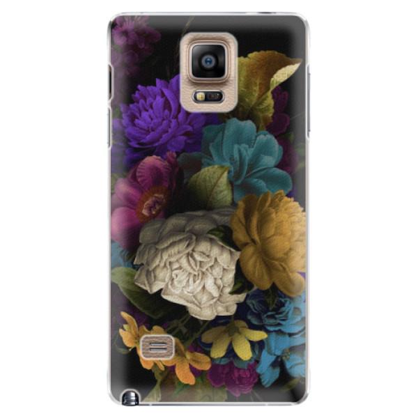 Plastové puzdro iSaprio - Dark Flowers - Samsung Galaxy Note 4