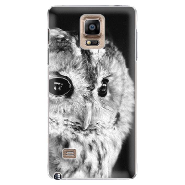 Plastové puzdro iSaprio - BW Owl - Samsung Galaxy Note 4