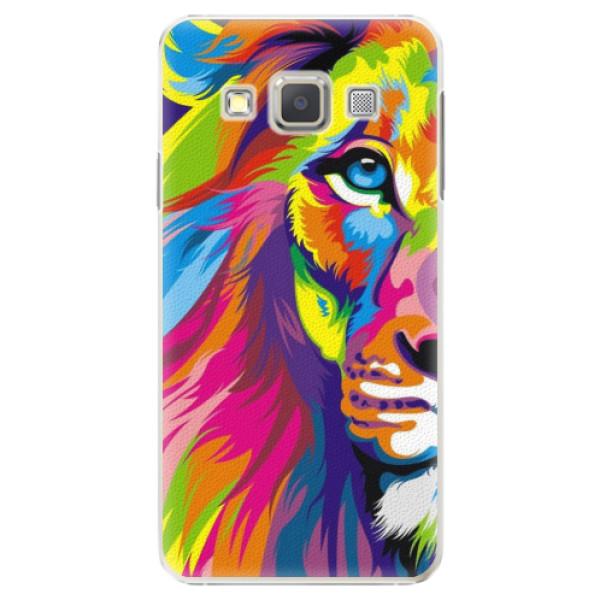 Plastové puzdro iSaprio - Rainbow Lion - Samsung Galaxy A3