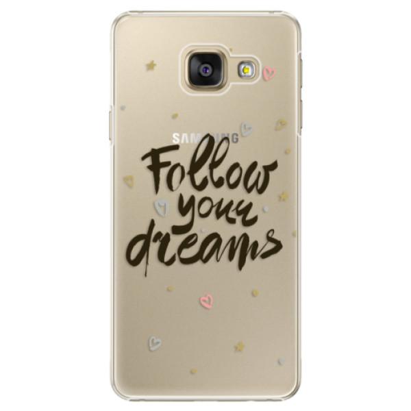 Plastové puzdro iSaprio - Follow Your Dreams - black - Samsung Galaxy A3 2016