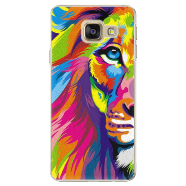Plastové puzdro iSaprio - Rainbow Lion - Samsung Galaxy A3 2016