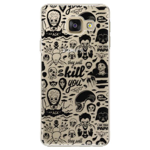 Plastové puzdro iSaprio - Comics 01 - black - Samsung Galaxy A3 2016