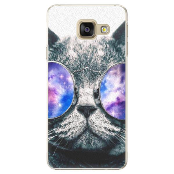 Plastové puzdro iSaprio - Galaxy Cat - Samsung Galaxy A3 2016