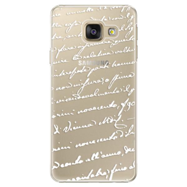 Plastové puzdro iSaprio - Handwriting 01 - white - Samsung Galaxy A3 2016