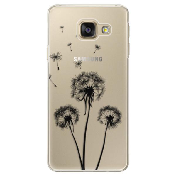 Plastové puzdro iSaprio - Three Dandelions - black - Samsung Galaxy A3 2016