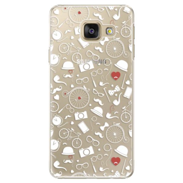 Plastové puzdro iSaprio - Vintage Pattern 01 - white - Samsung Galaxy A3 2016