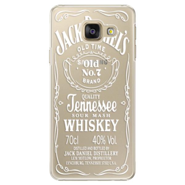 Plastové puzdro iSaprio - Transparent White Jack - Samsung Galaxy A3 2016