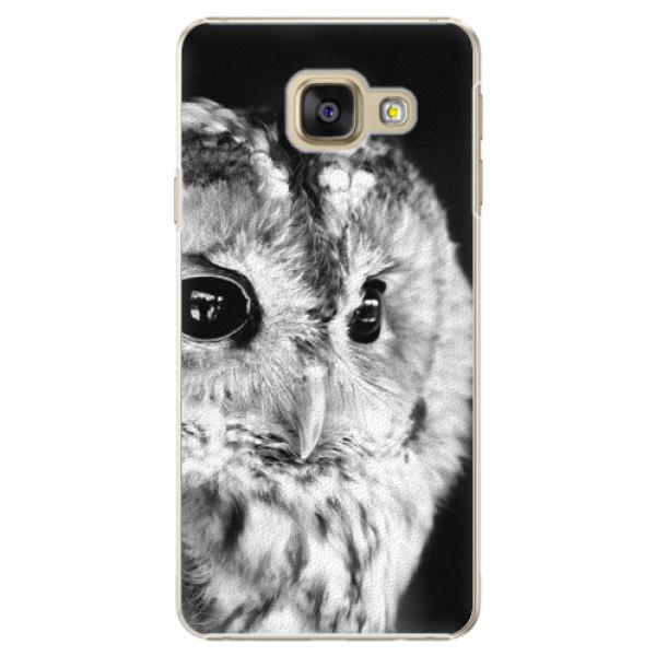 Plastové puzdro iSaprio - BW Owl - Samsung Galaxy A3 2016