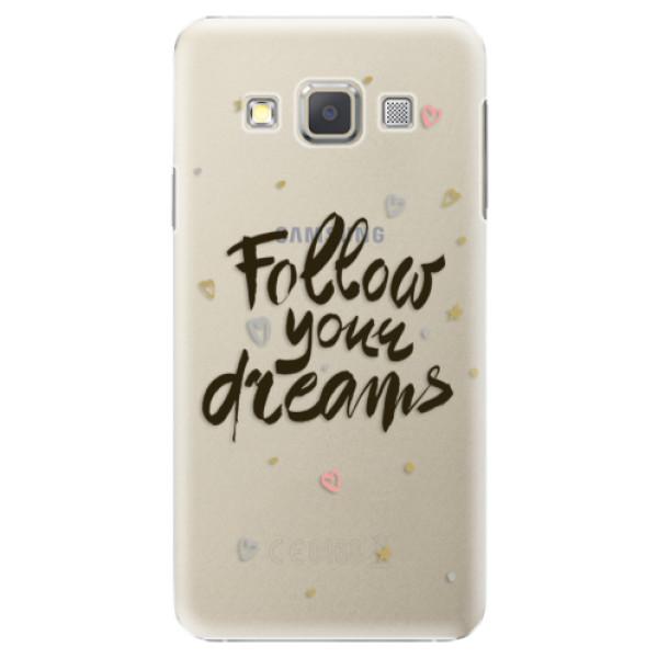 Plastové puzdro iSaprio - Follow Your Dreams - black - Samsung Galaxy A5