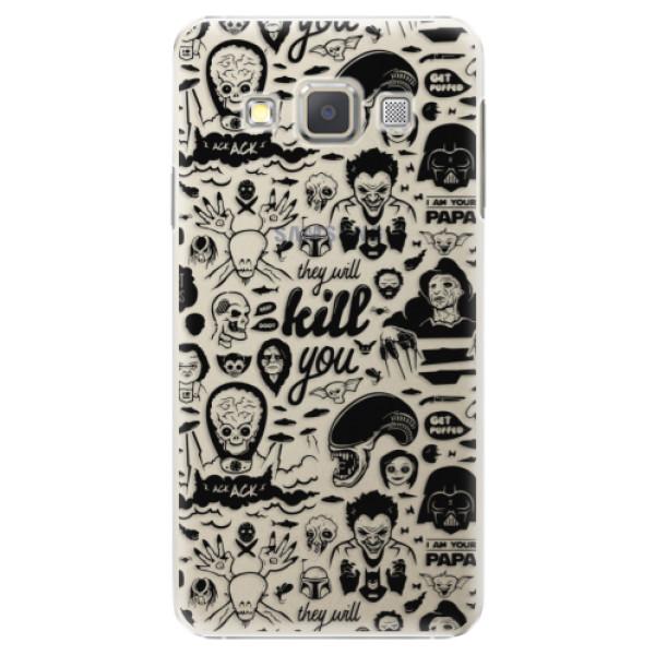 Plastové puzdro iSaprio - Comics 01 - black - Samsung Galaxy A5