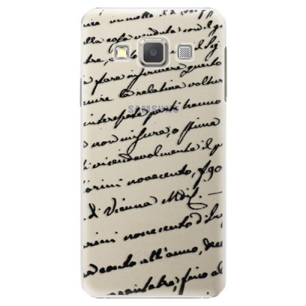 Plastové puzdro iSaprio - Handwriting 01 - black - Samsung Galaxy A5