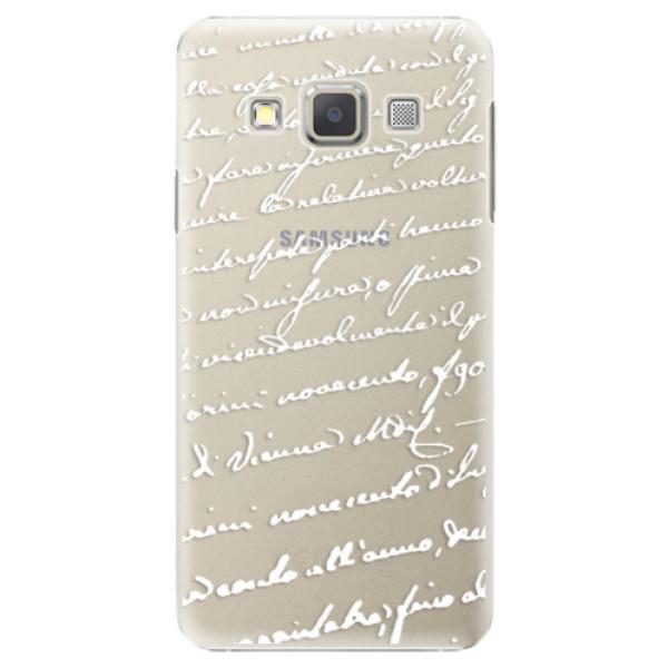 Plastové puzdro iSaprio - Handwriting 01 - white - Samsung Galaxy A5